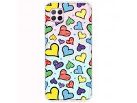 Husa TPU OEM Antisoc pentru Huawei P40 lite, Hearts, Multicolor, Bulk