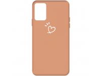 Husa TPU OEM Antisoc pentru Samsung Galaxy S10 Lite, Heart, Portocalie, Bulk