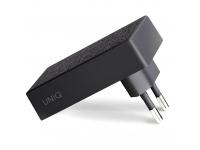 Incarcator Retea cu cablu Lightning UNIQ Votre Slim Kit, Power Delivery (18W), 1 X USB Tip-C, Negru, Blister