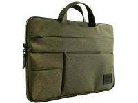 Geanta Textil pentru laptop max 15 inci UNIQ Cavalier, 2in1, Verde, Blister