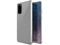Husa TPU UNIQ LifePro Tinsel Samsung Galaxy S20 G980 / Samsung Galaxy S20 5G G981, Glitter, Transparenta