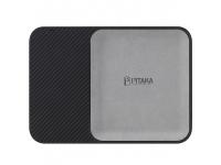 Incarcator Retea Wireless Pitaka Air Tray Obsidian Black, Fast Wireless (10W / 7.5W), Fibra Aramida, Cu Organizator, Negru ATR1003