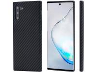 Husa Fibra Aramida Pitaka MagEZ pentru Samsung Galaxy Note 10 N970 / Samsung Galaxy Note 10 5G N971, Car Case Magnet, Tesatura diagonala (Twill), Neagra Gri, Blister KN1001