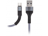 Cablu Date si Incarcare USB la MicroUSB MaXlife MXUC-01, 1 m, Gri, Blister
