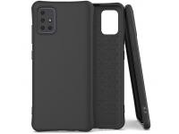 Husa TPU OEM Soft Color pentru Samsung Galaxy A71 A715, Neagra, Bulk