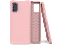 Husa TPU OEM Soft Color pentru Samsung Galaxy A41, Roz, Bulk
