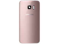 Capac Baterie - Geam Bltiz - Geam Camera Spate Samsung Galaxy S7 edge G935, Roz Auriu, Second Hand