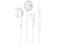 Handsfree Casti In-Ear HOCO L10 M1 Pro Acoustic, Cu microfon, USB Type-C, Alb, Blister