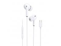 Handsfree Casti In-Ear Dudao X14L, USB Type-C, Alb, Blister