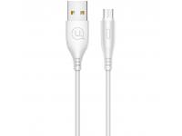 Cablu Date si Incarcare USB la MicroUSB Usams U18, 2A Fast Charge, 1 m, Alb, Blister SJ268USB02