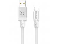 Cablu Date si Incarcare USB la MicroUSB Usams U16 Volume Control Led, 2A, 1 m, Alb, Blister SJ288USB02
