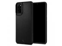 Husa Piele Spigen Ciel Leather Brick pentru Samsung Galaxy S20 Plus G985 / Samsung Galaxy S20 Plus 5G G986, Neagra, Blister ACS00770