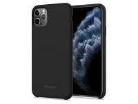Husa Plastic Spigen Fit pentru Apple iPhone 11 Pro, Neagra, Blister 077CS27226