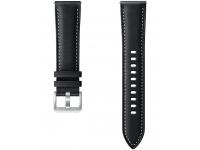 Curea ceas Samsung Galaxy Watch Active / Galaxy Watch Active2 / Galaxy Watch3 41 mm/ Galaxy Watch 42 mm / Gear Sport, 20 mm, Piele, Neagra, Blister ET-SLR85SBEGEU