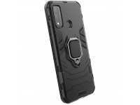 Husa Plastic - TPU OEM Ring Tough Armor Kickstand pentru Huawei P smart 2020, Neagra, Bulk