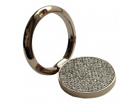 Suport inel universal pentru telefon, Glitter, Auriu Blister