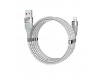 Cablu Date si Incarcare USB la Lightning Dudao Cu suport organizare magnetic, 5A, 1 m, Gri, Blister L1xsL