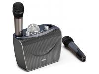 Boxa Bluetooth Dudao Y15 Karaoke, Wireless, 2 Microfoane, Lampa Disco, Negru, Blister