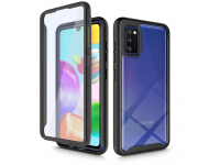 Husa Plastic - TPU Tech-Protect DEFENSE360 pentru Samsung Galaxy A41, Neagra, Bulk