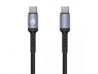 Cablu Date si Incarcare USB Type-C la USB Type-C Tellur 3A, PD60W, 1 m, Negru, Blister TLL155374