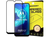 Folie Protectie Ecran WZK pentru Motorola Moto G8 Power Lite, Sticla securizata, Full Face, Full Glue, Neagra, Blister