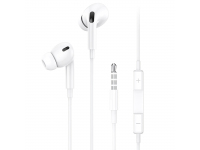 Handsfree Casti In-Ear Usams EP-41, Cu microfon, 3.5 mm, Alb, Blister