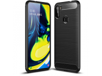 Husa TPU OEM Carbon pentru Samsung Galaxy A11 / Samsung Galaxy M11, Neagra, Bulk