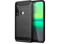 Husa TPU OEM Carbon pentru Motorola One Macro, Neagra, Bulk