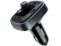 Modulator FM Bluetooth Remax RCC230, Mp3 Player, Buton de apel, Negru