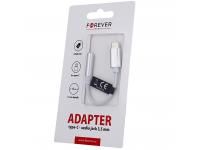 Adaptor Audio USB Type-C la 3.5 mm Forever, 0.12 m, Alb