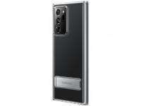 Husa Plastic Samsung Galaxy Note 20 Ultra N985 / Samsung Galaxy Note 20 Ultra 5G N986, Standing Cover, Transparenta, Blister EF-JN985CTEGEU