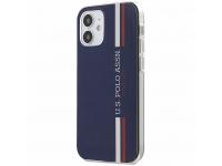 Husa TPU U.S. Polo Tricolor Vertical Stripes Apple iPhone 12 mini, Bleumarin USHCP12SPCUSSNV