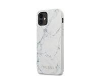Husa TPU Guess Marble pentru Apple iPhone 12 mini, Alba GUHCP12SPCUMAWH
