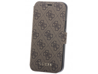 Husa Plastic - TPU Guess 4G Book pentru Apple iPhone 12 mini, Maro GUFLBKSP12S4GB