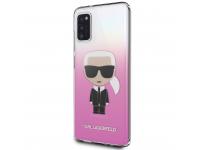Husa TPU Karl Lagerfeld pentru Samsung Galaxy A41, Gradient Ikonik Karl, Roz, Blister KLHCA41TRDFKPI
