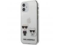 Husa Plastic - TPU Karl Lagerfeld pentru Apple iPhone 12 mini, Karl &Choupette, Transparenta KLHCP12SCKTR