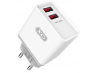 Incarcator Retea USB XO Design L31, 2 X USB, 2.4A, Alb, Blister