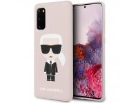 Husa Plastic - TPU Karl Lagerfeld Full Body pentru Samsung Galaxy S20 G980, Roz, Blister KLHCS62SLFKPI