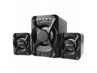 Boxa Bluetooth Kisonli U-2500BT, Sistem audio 2.1, 5 W + 2 x 3 W, Neagra, Blister