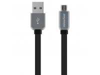 Cablu Date si Incarcare USB la MicroUSB iMyMax DC - 007, 1 m, Led, Negru Gri, Blister