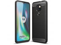 Husa TPU Tech-Protect Carbon pentru Motorola Moto G9 Play / Motorola Moto E7 Plus, Neagra, Blister