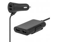 Incarcator Auto Statie USB MaXlife MXCC-03, 4 x USB, 5.4A, Negru, Blister