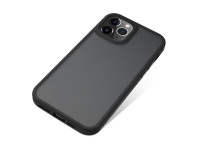 Husa TPU Nevox pentru Apple iPhone 12 Pro Max, StyleShell Invisio, Neagra Transparenta, Blister