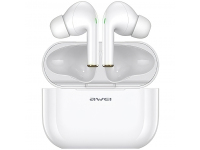 Handsfree Casti Bluetooth Awei T29 TWS + Suport Incarcare, MultiPoint, Alb, Blister