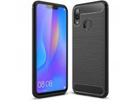 Husa TPU OEM Carbon pentru Huawei Honor 8X, Neagra, Bulk