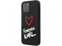 Husa TPU Karl Lagerfeld Forever pentru Apple iPhone 12 Pro Max, Neagra, Blister