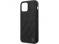 Husa Piele MERCEDES Genuine Leather pentru Apple iPhone 12 mini, Neagra, Blister MEHCP12SDIQBK