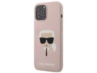 Husa TPU Karl Lagerfeld Head pentru Apple iPhone 12 Pro Max, Roz, Blister KLHCP12LSLKHLP