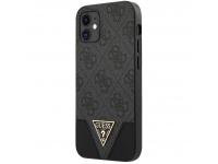 Husa Plastic - TPU Guess 4G Triangle pentru Apple iPhone 12 mini, Gri GUHCP12SPU4GHBK