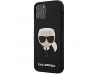 Husa TPU Karl Lagerfeld Head pentru Apple iPhone 12 / Apple iPhone 12 Pro, Neagra, Blister KLHCP12MSLKHBK